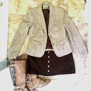 ❌ SOLD Brown Tweed Blazer